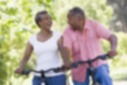 couple riding bicyles