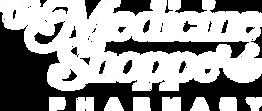 Medicine Shoppe Pharmacy white logo