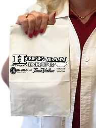 Hoffman Drug logo on bag