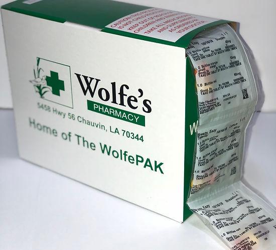 WolfePak pill pack