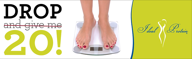 Weight Loss Ad of Someone Standing on a Scale