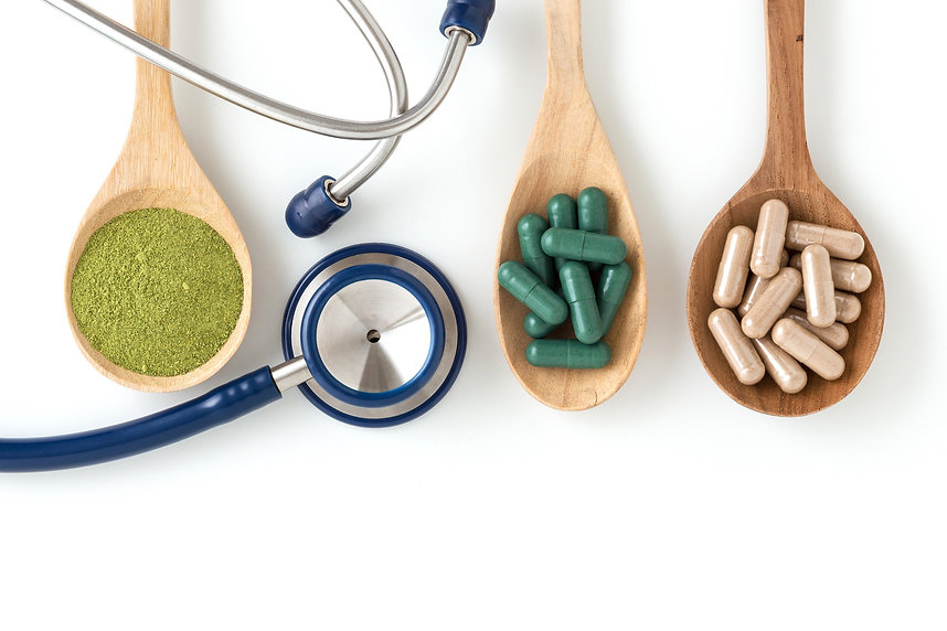 Herbal Medicine with Stethoscope_Pills_v