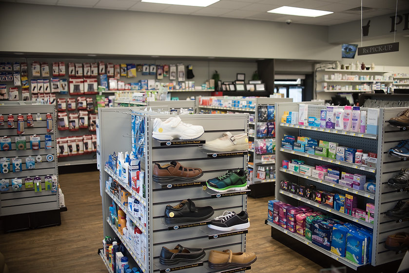 Hibbitts Drug Co over the counter section