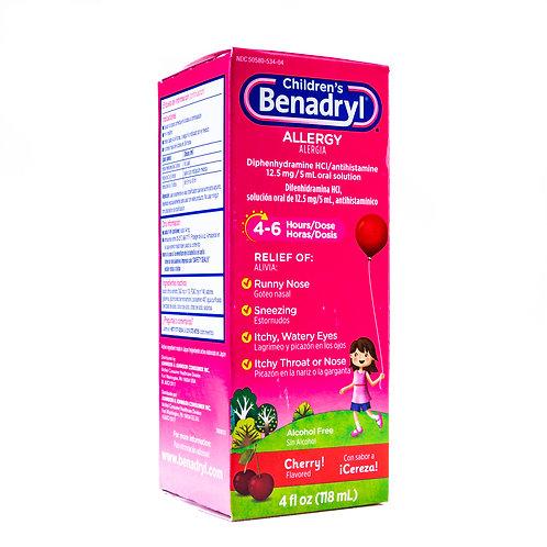 Benadryl Children's Allergy Liquid angle view
