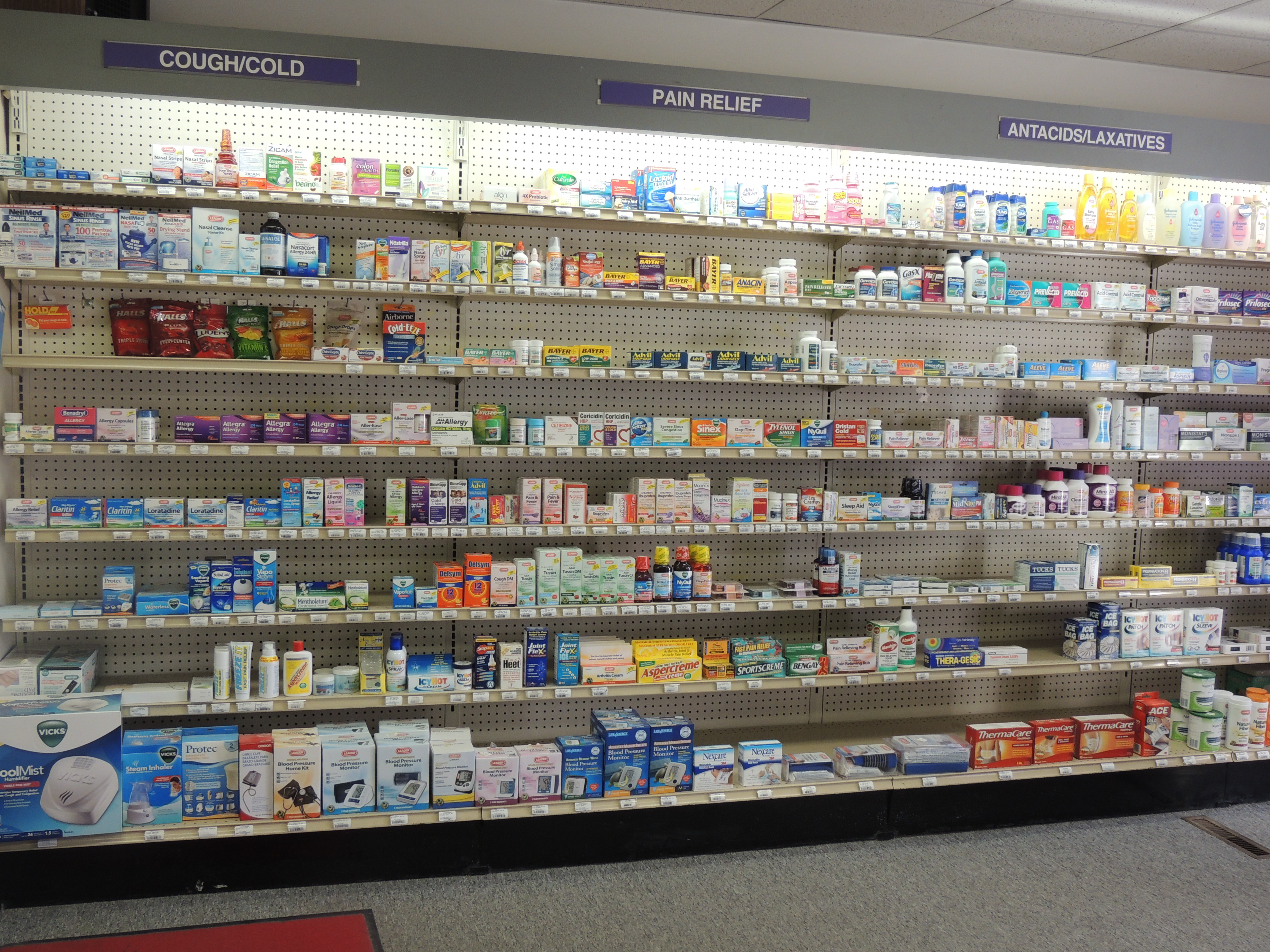 Over The Counter Section