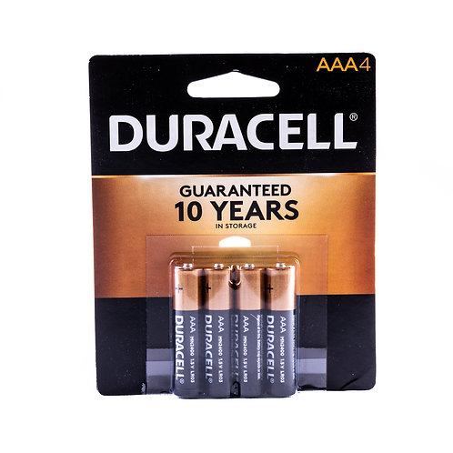 Duracell Coppertop AAA front view