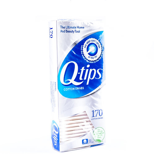 Q-Tips Cotton Swabs angle view