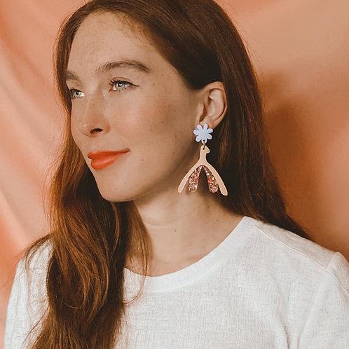 The Clit Is Lit - Glitter Clitoris Earrings - Studs