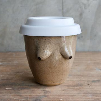 Maddie Deere Ceramics - Boob Reusable Coffee Cup