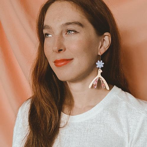 The Clit Is Lit - Glitter Clitoris Earrings - Hooks