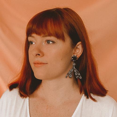 The Clit Is Lit - Black & White Clitoris Earrings - Studs
