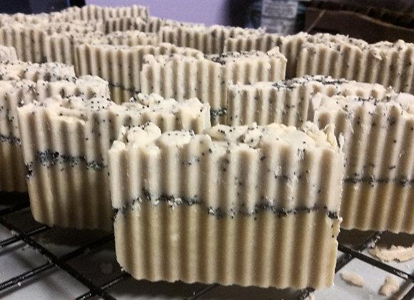 lemom poppyseed vegan soaps