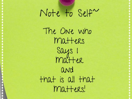 Day 31: I Matter