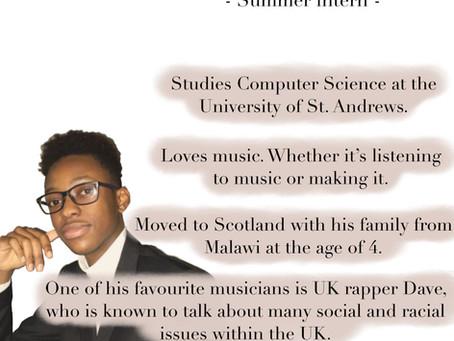 Meet Prince: Our Summer Intern