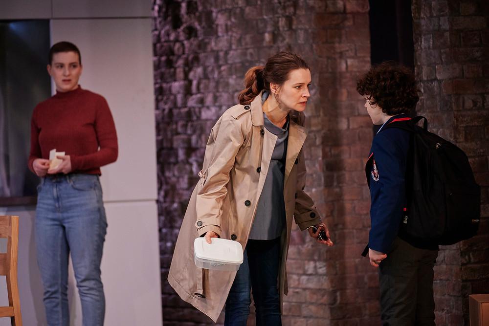 (L-R)  Annie (Bláithín Mac Gabhann), Hazel (Catherine Walker) and Daniel (Conor Ò Hanlon). Image by Ros Kavanagh