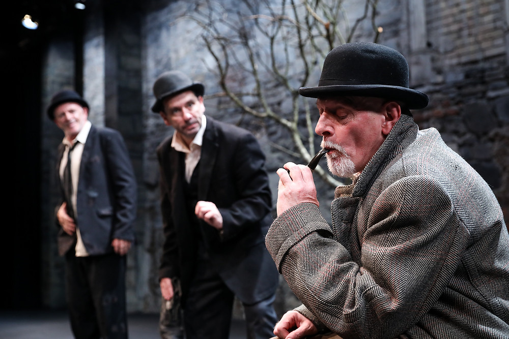 Charlie Hughes and Donal Courtney and Gerard Byrne in Waiting For Godot. Image by Tom Maher.