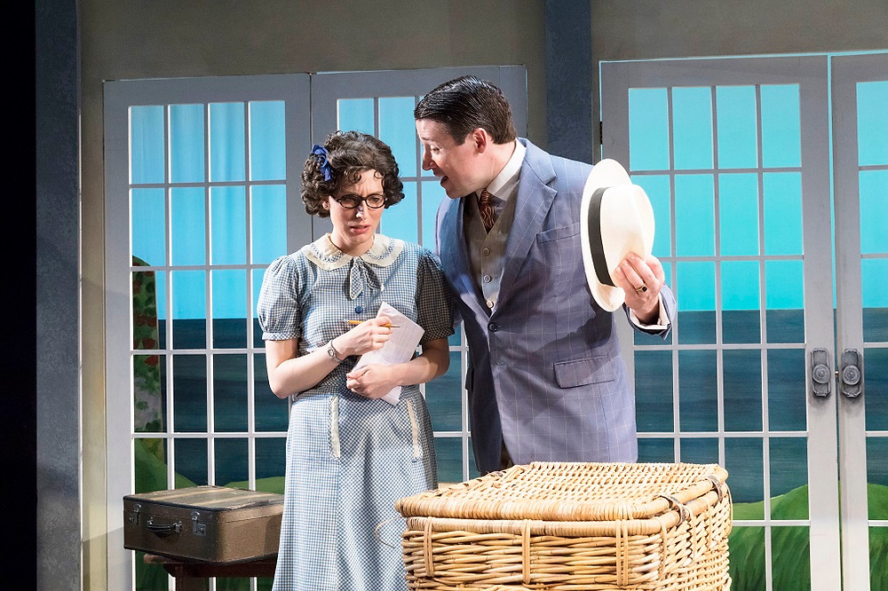 Sarah Nicole Deaver and Colin Ryan in Holiday Home. Photo by Richard Termine