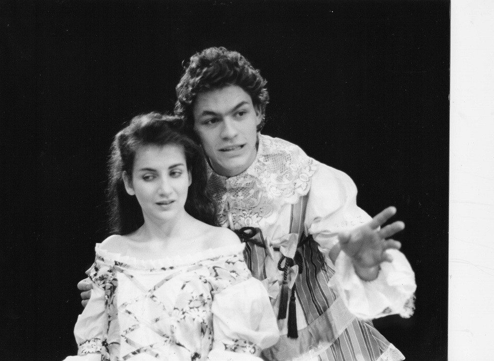 Clodagh O'Donoghue and Dominic West in Don Juan, 1990. Photo by Fishamble
