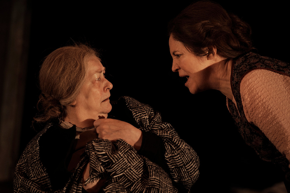 Barbara Brennan as Nanna Glavin and Andrea Irvine as Mena in Druid's production of Sive by John B Keane at the Gaiety Theatre. Image Ros Kavanagh