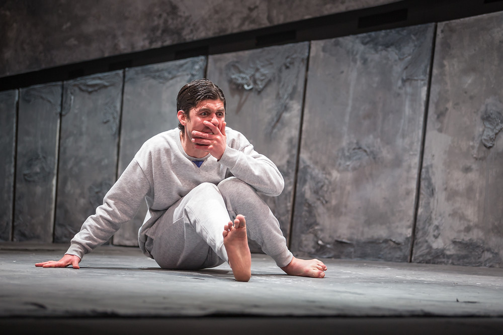 Rex Ryan in 'Tonight With Donny Stixx', part of 'The Ridleys'; Theatre Upstairs in association with the Abbey Theatre; photo credit Ste Murray.