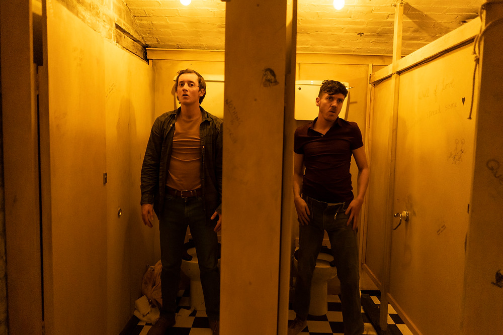 Faultline, an ANU and Gate Theatre Co-Production. Image by Pat Redmond. Performer Matthew Williamson and Stephen Quinn.