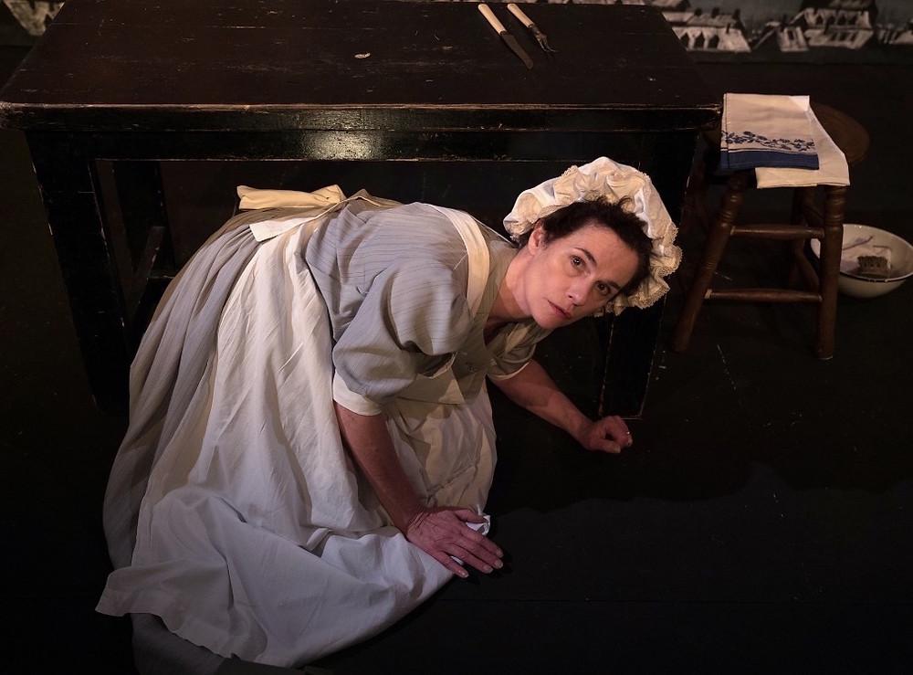 Charlotte Bradley in Typhoid Mary. Photo by Futoshi Sakauchi