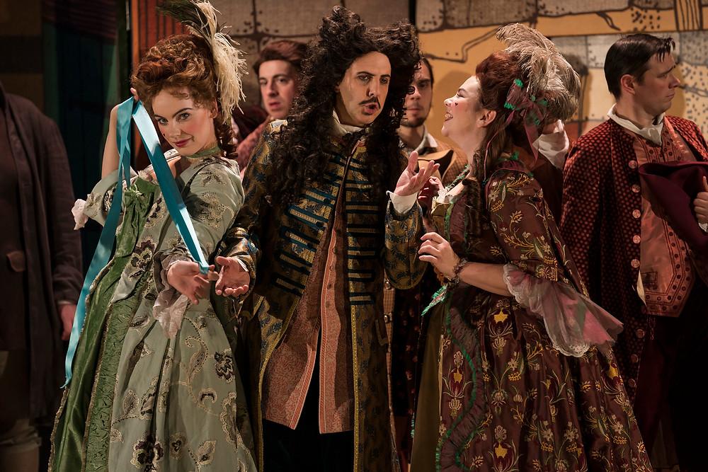 Niamh O'Sullivan, Riccardo Novaro and Rachel Croash in Cinderella/La Cenerentola. Image by Pat Redmond.