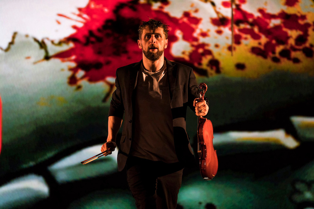 Aaron Monaghan in The Second Violinist. Photo by Patrick Redmond
