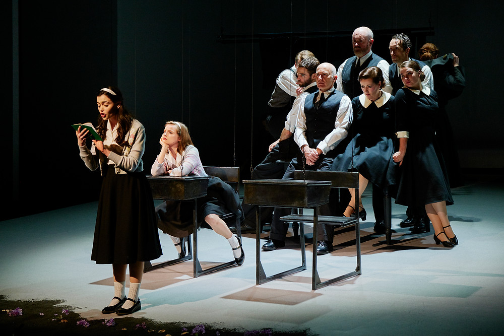 The Company of Edna O'Brien's The Country Girls directed by Graham McLaren on the Abbey Stage. Photo © Ros Kavanagh.