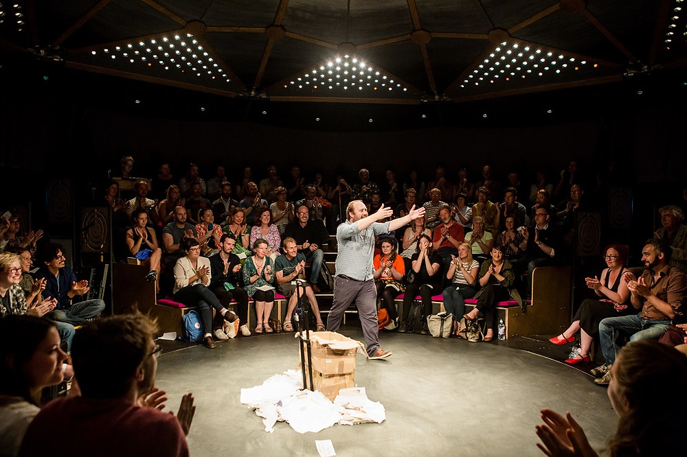 Every Brilliant Thing. Photo by Paines Plough and Pentabus Theatre Company