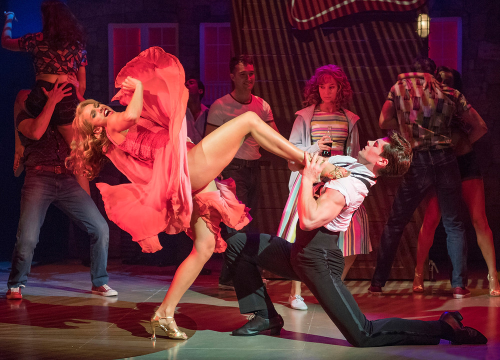 Simone Covele, Kira Malou and Michael O'Reilly in Dirty Dancing - The Classic Story On Stage. Image by Alastair Muir
