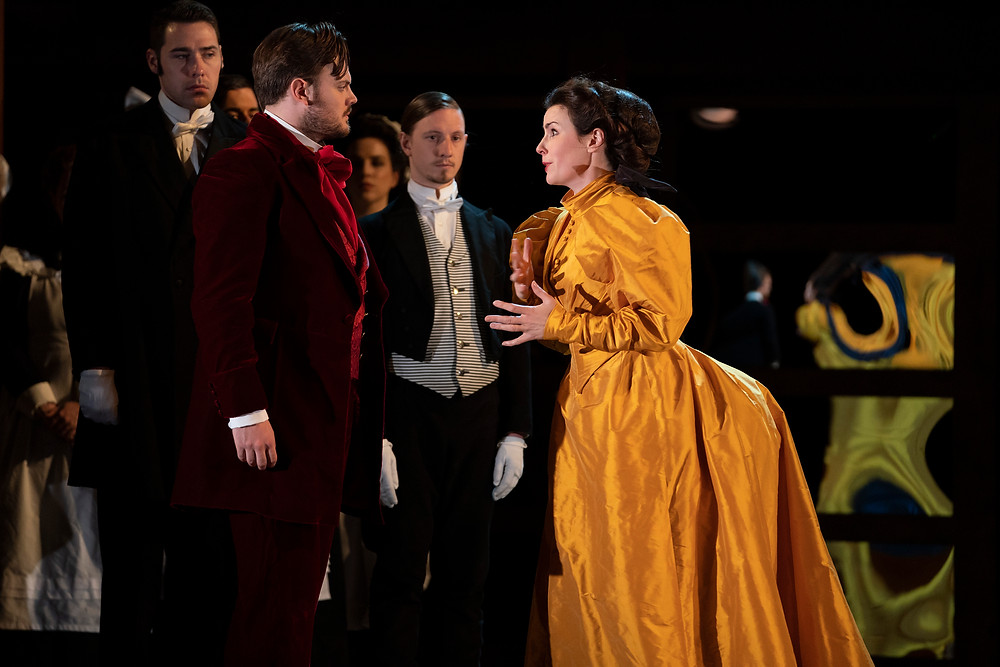 Nick Pritchard, Anna Devin and cast in The Magic Flute. Photo by Pat Redmond.