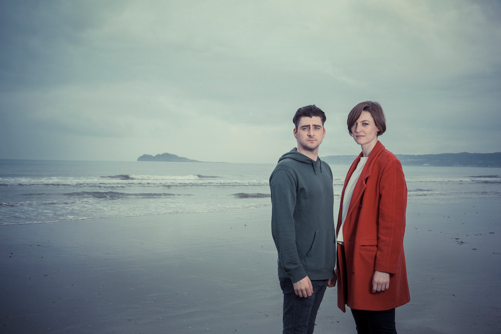 Liam Heslin and Rachel O'Byrne in The Good Father. Photo by Ste Murray