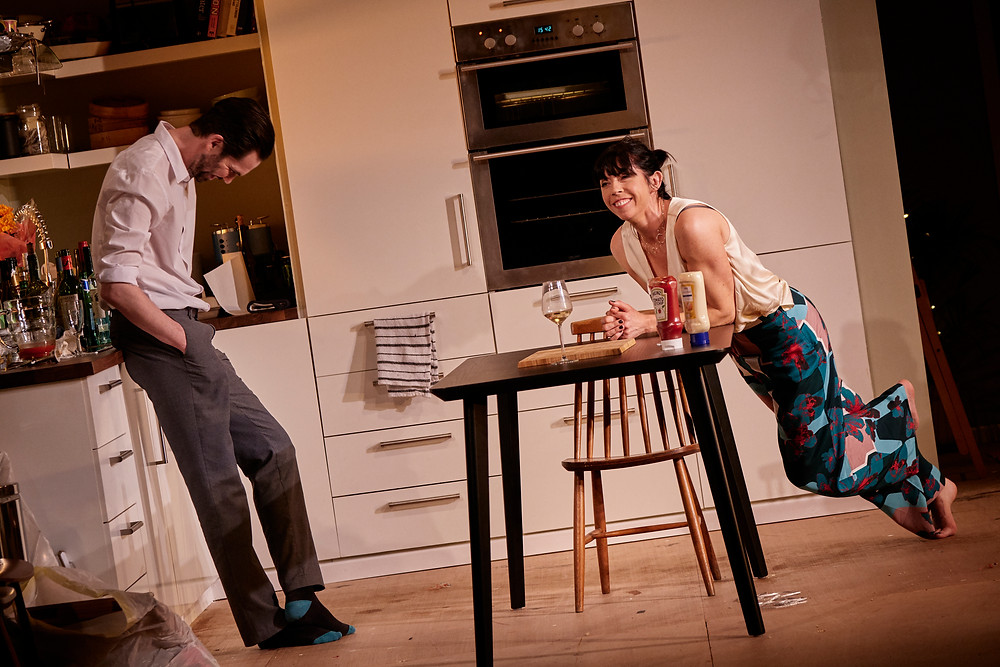 Marty Rea and Eileen Walsh in the Gate Theatre production of 'Beginning' by David Eldridge. Photograph by Ros Kavanagh