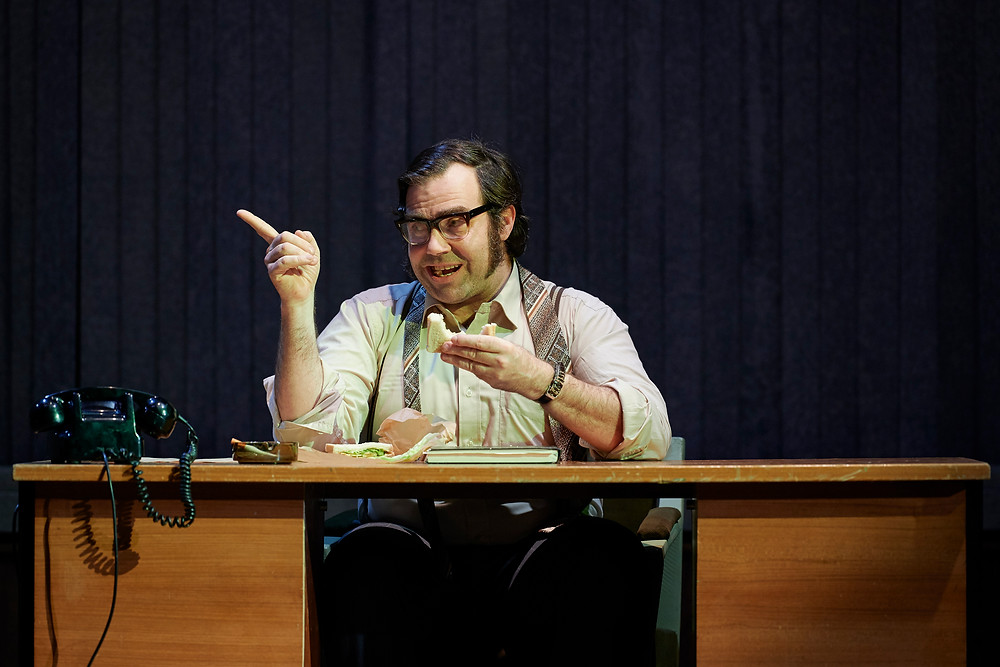 Patrick Ryan in The Fall of the Second Republic, a Corn Exchange and Abbey Theatre co-production. Photo by Ros Kavanagh