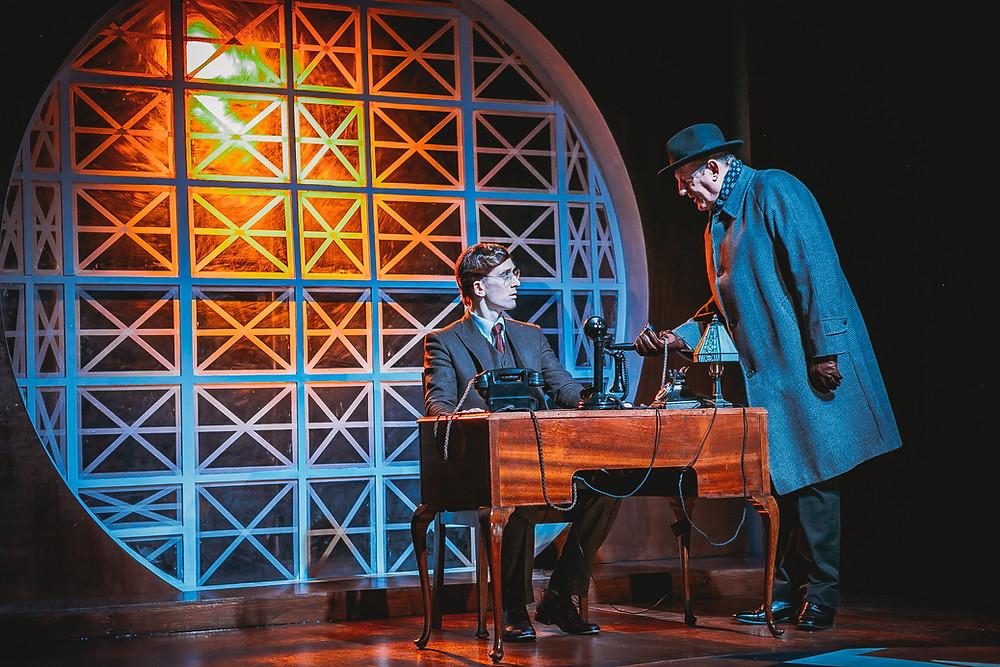Ian Toner & Sean Kearns in The Abbey Theatre and Lyric Theatre, Belfast's Double Cross by Thomas Kilroy. Photo by Melissa Gordon.