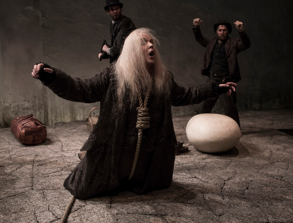 Garrett Lombard as Lucky in Waiting For Godot. Photo Matthew Thompson