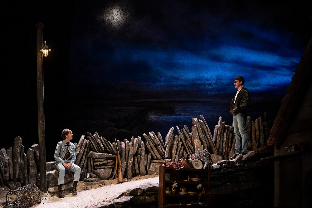 Aisling Kearns, Paul Mescal in the Gaiety Theatre's major new production of Martin McDonagh's The Lieutenant of Inishmore, directed by Andrew Flynn, which will run at the Gaiety until 14 March. Photo Patrick Redmond