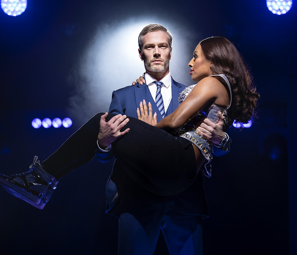 Benoît Maréchal and Alexandrea Burke in The Bodyguard. Photo by Paul Coltas