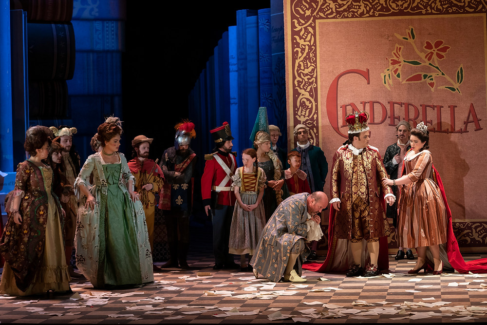 Cast of Cinderella/La Cenerentola. Image by Pat Redmond.