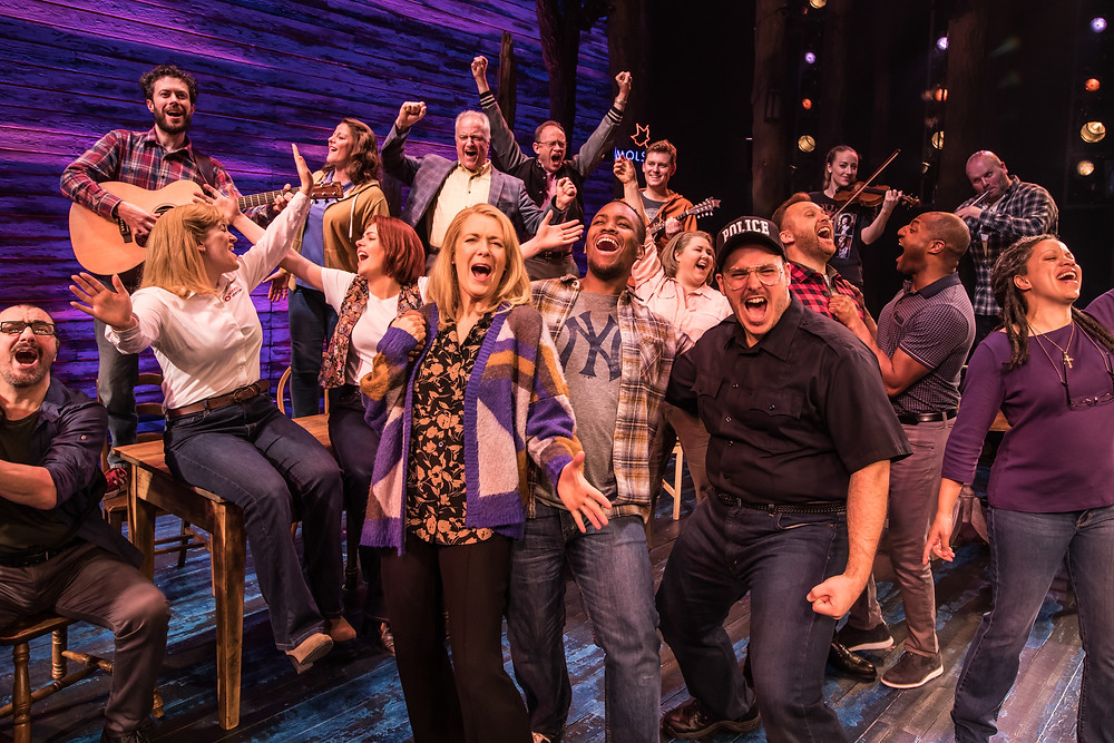 The Cast and Band of 'Come From Away', an Abbey Theatre co-production with Junkyard Dog Productions and Smith & Brant Theatricals. Image © Matthew Murphy.
