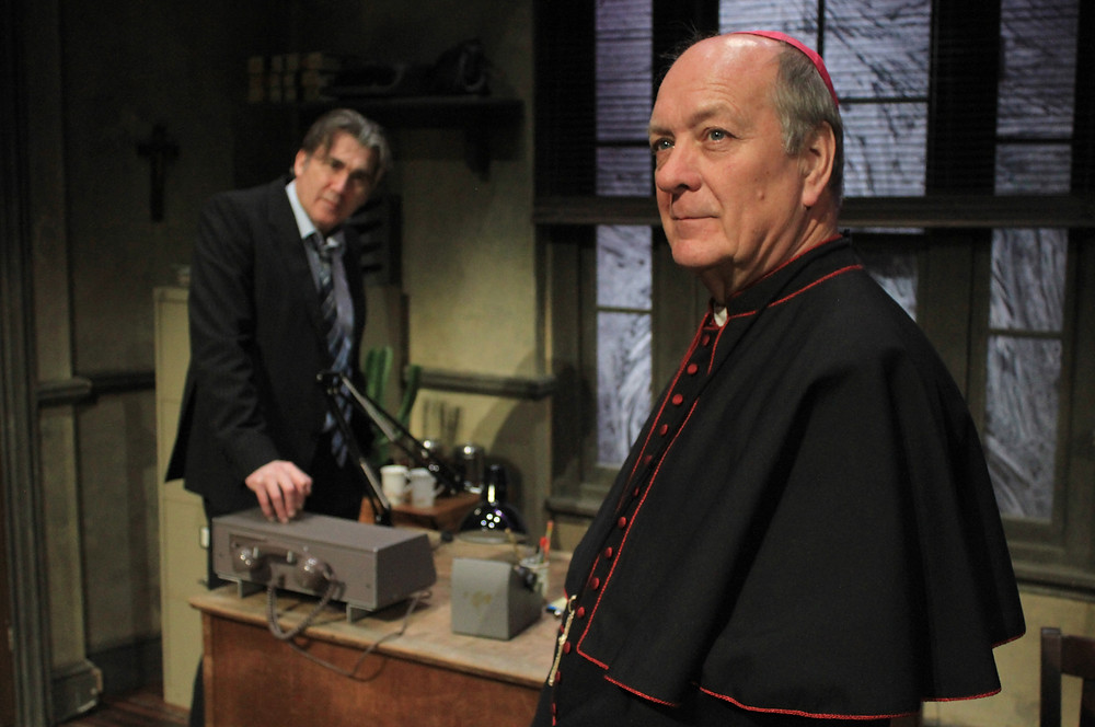 Ian Kelsey and Richard Walsh in The Verdict. Image uncredited