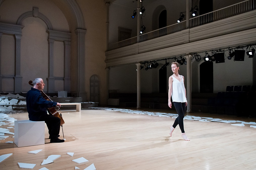 "Neil Martin and Jean Butler in ""this is an Irish dance"" Photo by Ian Douglas"