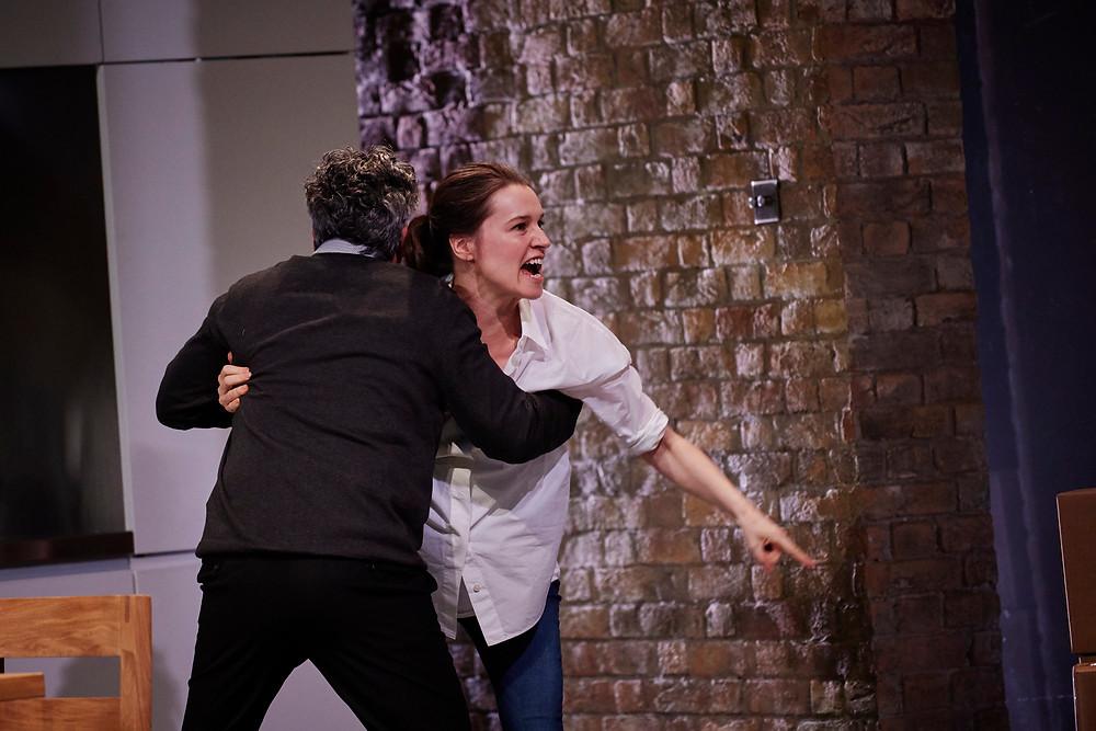 (L-R) Richard (Aidan McArdle) & Hazel (Catherine Walker). Image by Ros Kavanagh.