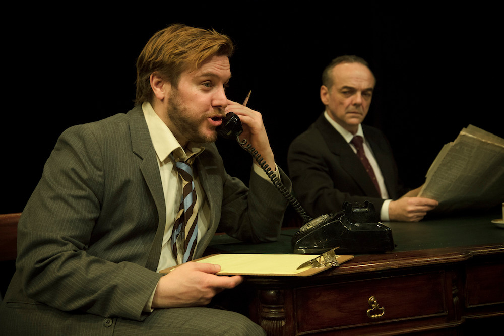 Peter Coonan and Morgan C Jones in Fishamble's HAUGHEY|GREGORY by Colin Murphy. Photo by Anthony Woods
