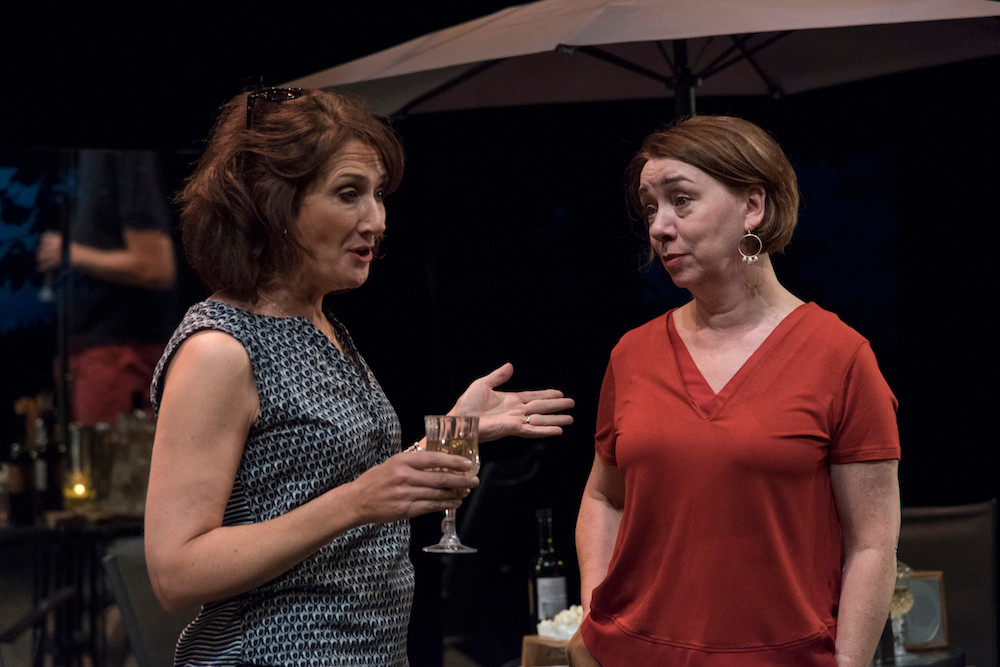 Ali White and Cara Kelly in Fire Below (A War of Words). Photo by Chris Hill
