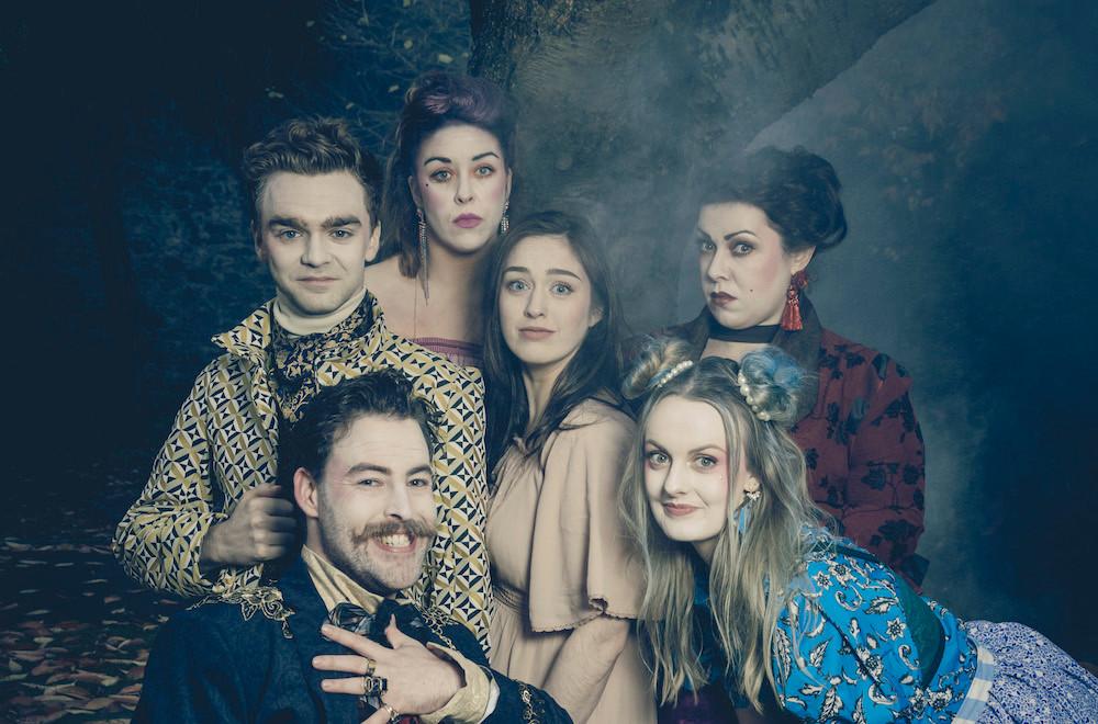 Fionn Foley, Finbarr Doyle, Aisling O'Mara, Danielle Galligan, Camille Lucy Ross and Ashleigh Dorrell in The Grimm Tale of Cinderella. Photo by Ste Murray