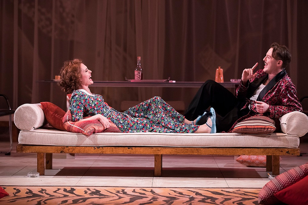 Rebecca O'Mara and Shane O'Reilly in Private Lives. Photo by Pat Redmond