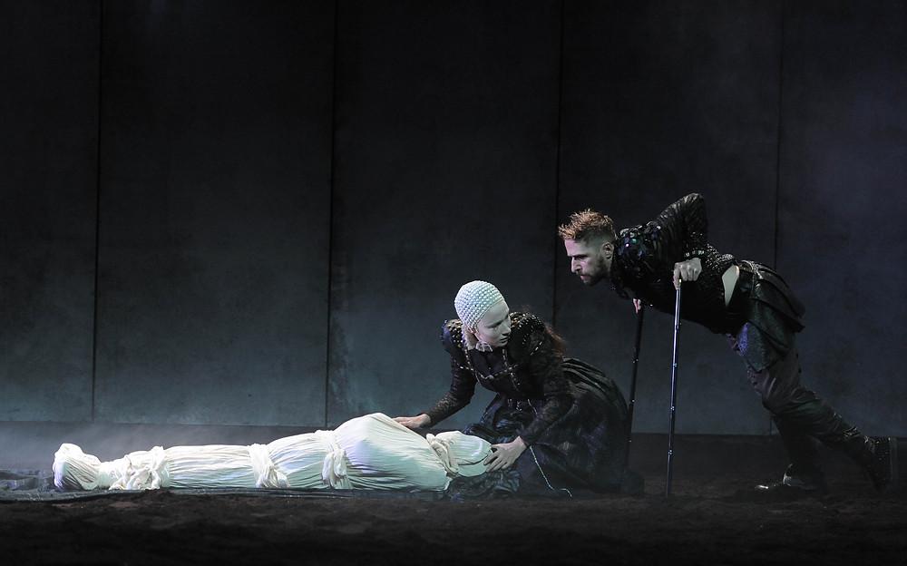 Siobhán Cullen and Aaron Monaghan in DruidShakespeare's Richard III. Image by Robbie Jack