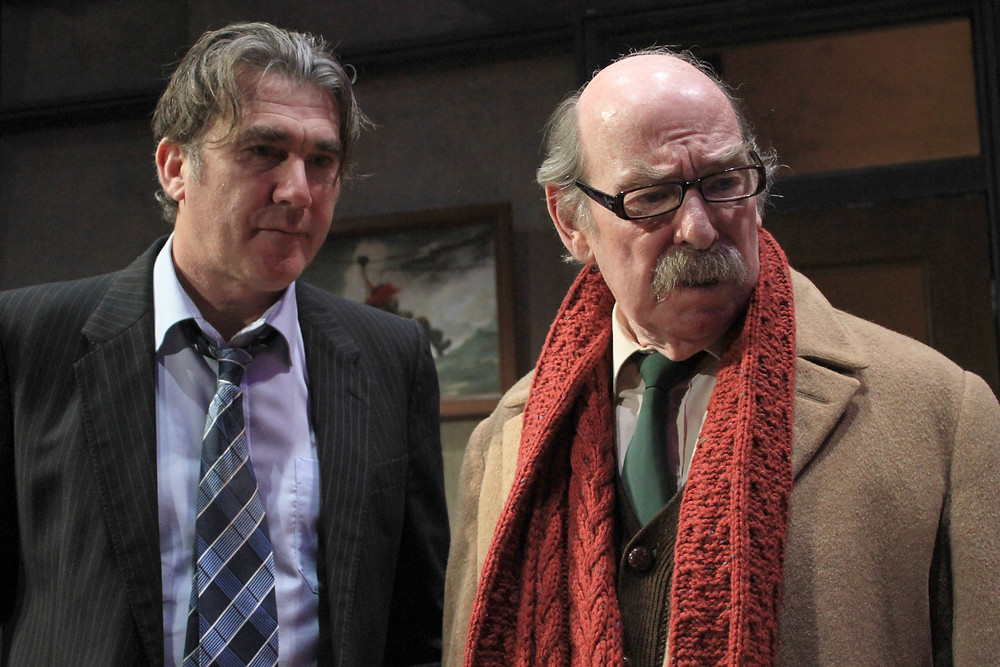 Ian Kelsey and Denis Lill in The Verdict. Image uncredited.